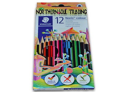 STAEDTLER NORIS 12 x COLOURING PENCILS - BRAND NEW & RETAIL SEALED