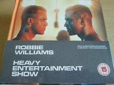 Robbie Williams ‎– Heavy Entertainment Show (2016)  CD+DVD Deluxe Digibook  NEW