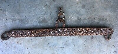 Antique Vintage Rustic Cast Iron and Steel Horse Yoke Single Tree 26""