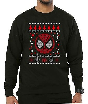 Spider Man Christmas Jumper Marvel Superhero Festive Adults & Kids Xmas Sweater