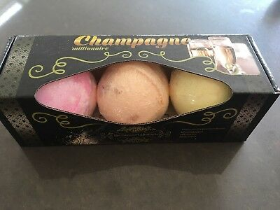 """Champagne"" - Cocktail Bath Bombs - Gift Set of 3 - Stylishly Gift Boxed 🍹"