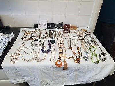 Job lot of vintage and new costume jewelery