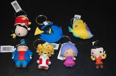 Lot of 7 Disney Blind Bag Key Chains (Villans/Nemo)