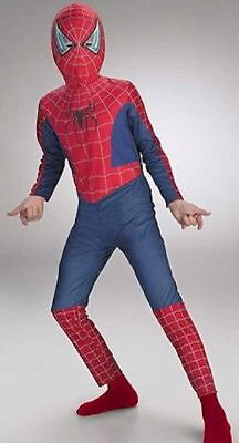 New Marvel Disguise Spiderman 2 Boys Halloween Costume Mask Child Sz 4-6 Or 7-10