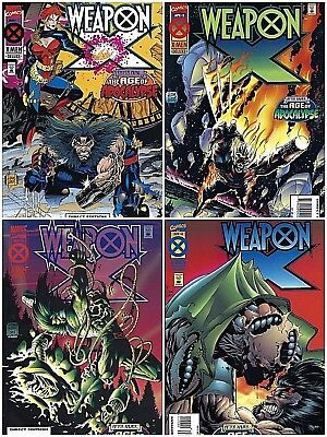 Weapon X: The Age of Apocalypse ~ Wolverine ~ Marvel Comics 1995 ~ Lot of 4