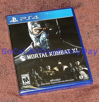 Mortal Kombat XL (PlayStation 4) BRAND NEW & FACTORY SEALED x combat ps4