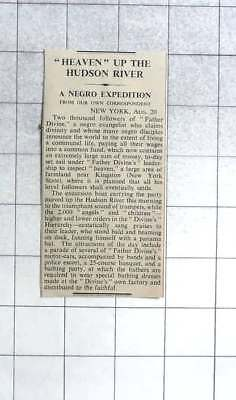 1936 2000 Negroes Follow Father Divine To Heaven Near Kingston New York State