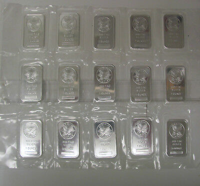 Sunshine Mint Sealed Sheet of 15 - 1 Troy Oz .999 Fine Silver Bars C1864