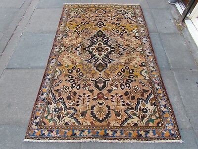 Old Hand Made Traditional Persian Rug Oriental Rug Wool Pink Rug 200x120cm