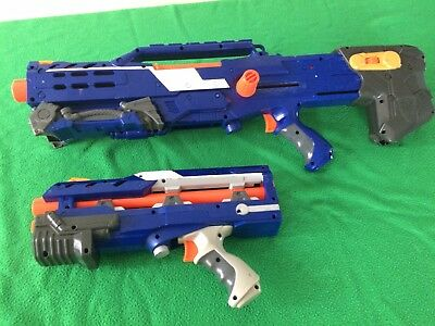 Nerf CS 6 Long Shot Sniper Rifle Dart Gun N Strike Elite Blue Longshot