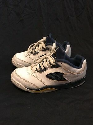 87cfbf6523d Nike Air Jordan 5 Retro Low GS SZ 3Y White Gold Dunk From Above 314339-