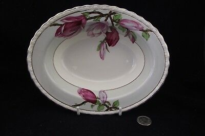 Myott Staffordshire Oval Serving Bowl With  Great Rich Floral Pattern