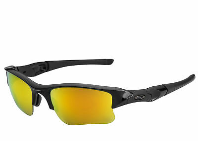 cb6b60ffe26a Oakley Men's Flak Jacket XLJ sunglasses Jet Black Fire Iridium 03-899 OO9009
