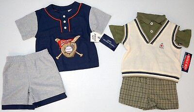 NWT LOT OF 5 SHORTS SHIRTS Bugle Boys Kids Headquarters Boys 3T Navy Gray NEW