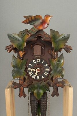 Bird & Vine Design Wall Hanging Badue Black Forest Cuckoo Clock