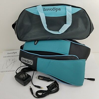 Shiatsu Back Neck and Shoulder Massager with Deep Tissue Kneading Pillow InvoSpa