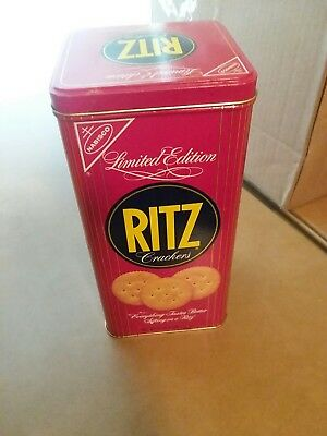 Nabisco Ritz Crackers Tin Limited Edition - 4 3/8 x 8 7/8 - Very Good Condition