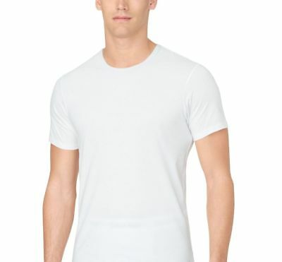 5b985eaa9ef $55 CALVIN KLEIN Men's SLIM-FIT WHITE CREW-NECK UNDERSHIRT T-SHIRT SIZE