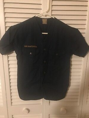 Cub Scout Blue Short Sleeve Uniform Shirt Vintage