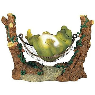George S. Statues Chen Imports SS-G-61047 Frog On Hammock Garden Decoration