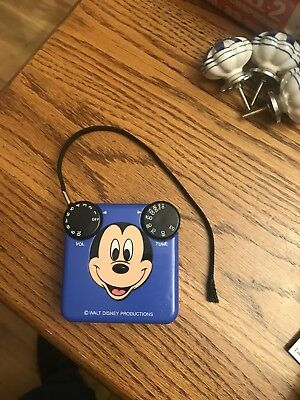 Vintage Mickey Mouse AM Radio Walt Disney Productions WORKS GREAT
