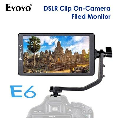 "Eyoyo E6 5.7"" 1920x1080 Full HD On-Camera Field Monitor 4K HDMl IPS 460cd/m2"