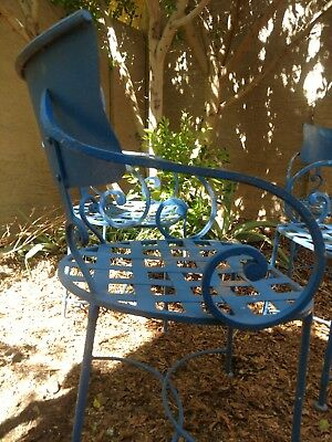Rare vintage wrought iron outdoor chairs