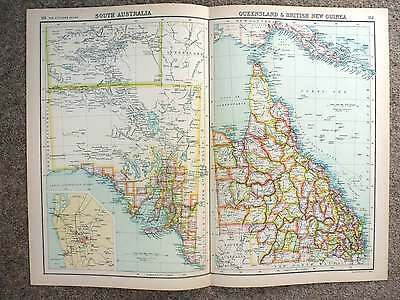1902  Map of South Australia, Queensland And British New Guinea