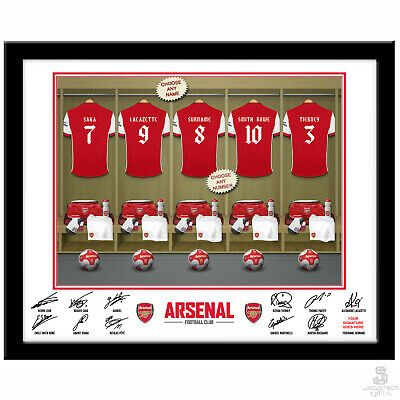 Personalised ARSENAL Signed Photo Poster. Customised Official Football Fan Gift
