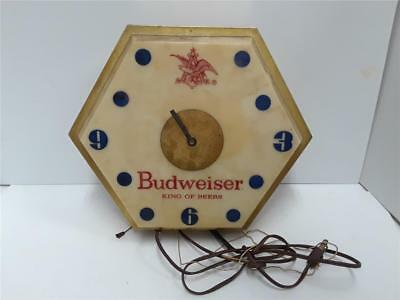 Vintage Lighted Budweiser Clock Parts / Repair