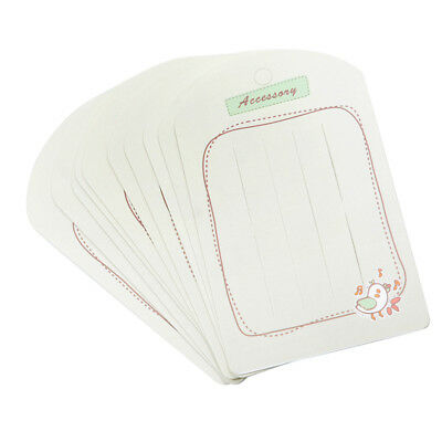 20Pcs Jewelry Display Cards Package Cards Hanging Card Hair Clip Display Tag