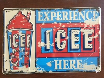 ICEE Embossed Tin Metal Sign Purchased with Icee Points No longer available! NEW