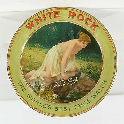ca1905 WHITE ROCK SODA / WATER TIN LITHOGRAPH ADVERTISING TIP TRAY CHANGE TRAY