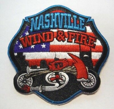 Nashville Tennessee Fire Dept Wind & Fire Motorcycle Club Patch Unused