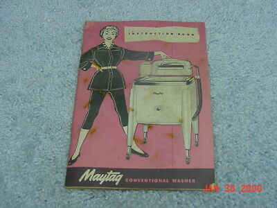 Original Vintage Antique Maytag Washing Machine Instruction Book Manual