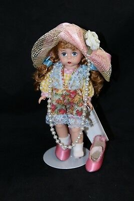 """Madame Alexander Just Like Mommy 8"""" Doll With Stand High Heels, Pearl Necklace"""