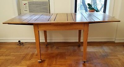"""Antique Oak Dining Table 42"""" x 42"""" with 15"""" Leafs for 72"""" Total"""