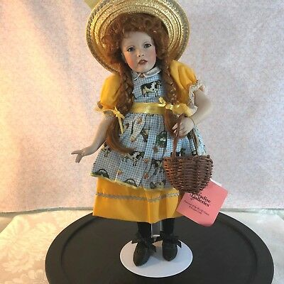 "Paradise Galleries Redhead Porcelain Doll Molly MacDonald 14"" by Patricia Rose"