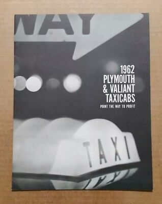 Plymouth & Valiant Taxicabs Sales Brochure,VINTAGE 1962