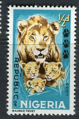 NIGERIA; 1965 early QEII Animals issue fine MINT MNH unmounted 1/2d.