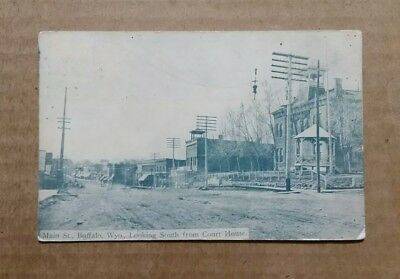 Main St.Buffalo,WY. Looking South From Court House,1911