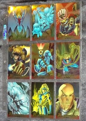 1995 Fleer Ultra X-men LTD ED CHROMIUM Complete 100 Card Set *** RARE ***NM-MINT