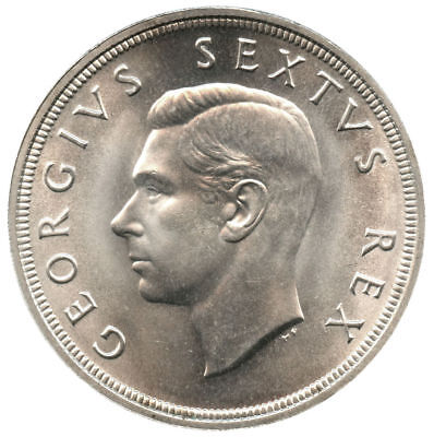1948 South Africa Silver 5 Shillings