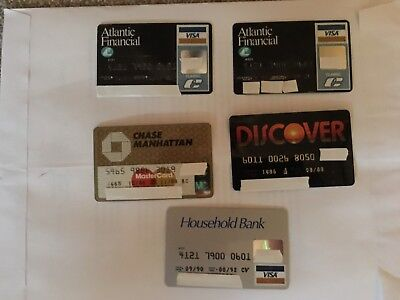VINTAGE EXPIRED CREDIT CARDS(VISA/MC/Discover) ~ LOT OF 5  CARDS FOR COLLECTORS