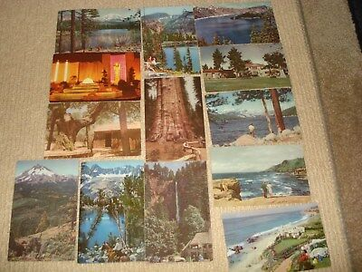 Vintage Lot 13 Postcards Union Oil 76 Gasoline Scenes of the West Series 50th An