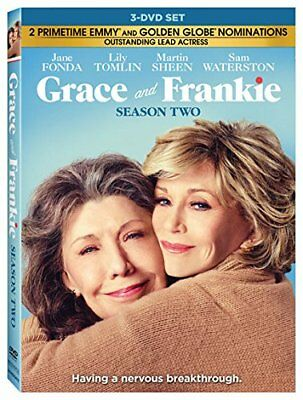 Grace and Frankie: Second Season 2 (DVD, 2017, 3-Disc Set) New, Free Shipping