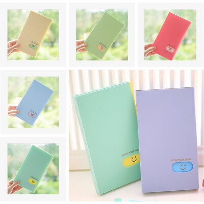 BL_ 120Pockets Photo Album Smile Face CandyColor ID Business Card Holder Book No