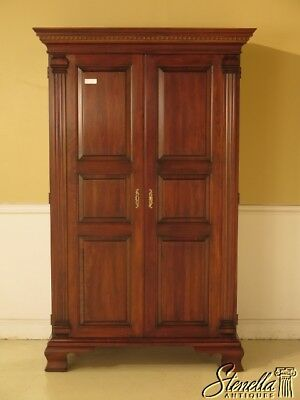 43390E: STATTON Oxford Cherry 2 Door Armoire Wardrobe Cabinet