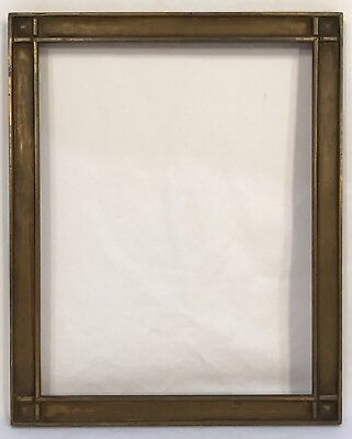 Antique Early 20th C Hand Carved Arts & Crafts Gold Frame 7 x 9 Opening