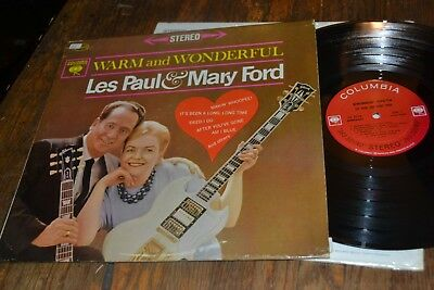 Les Paul Mary Ford Lp Warm & Wonderful Columbia Stereo 1962 Pop